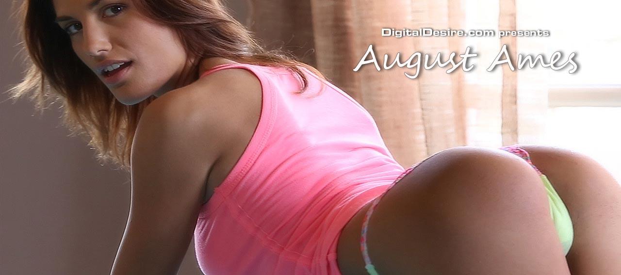 Digital Desire August Ames Slides off her panties