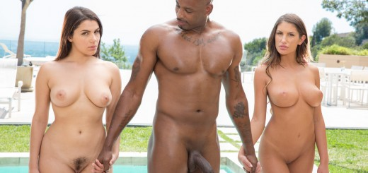 Blacked Valentina Nappi & August Ames in Two Rich Cheating Housewives Share a BBC with Flash Brown 16